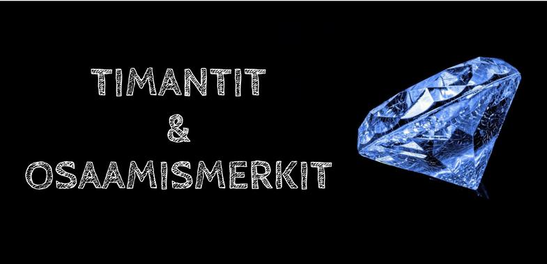 Arviointi timanttien ja osaamismerkkien avulla